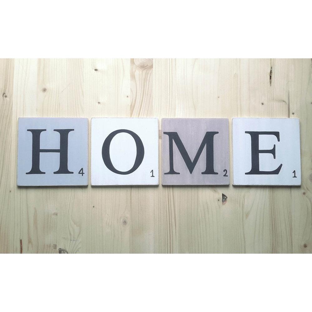 lettres en bois d co. Black Bedroom Furniture Sets. Home Design Ideas