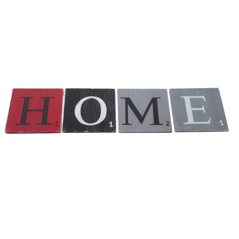 lettres en bois d co noir. Black Bedroom Furniture Sets. Home Design Ideas