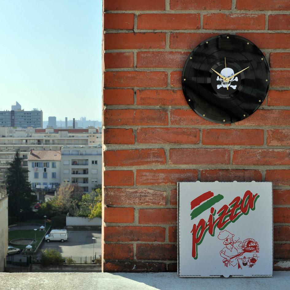Horloge Murale Vinyl Design Originale Calavera